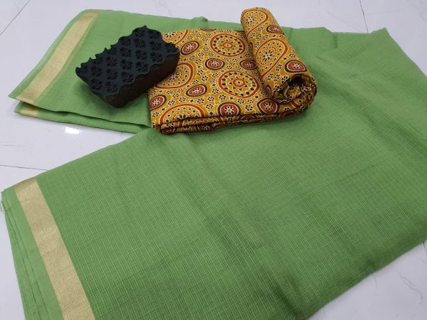Emerald kota doria saree with blouse
