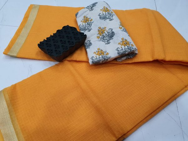 Office wear Amber kota doria saree with blouse