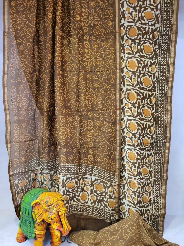 Office wear Coffee and copper Traditional chanderi suit set
