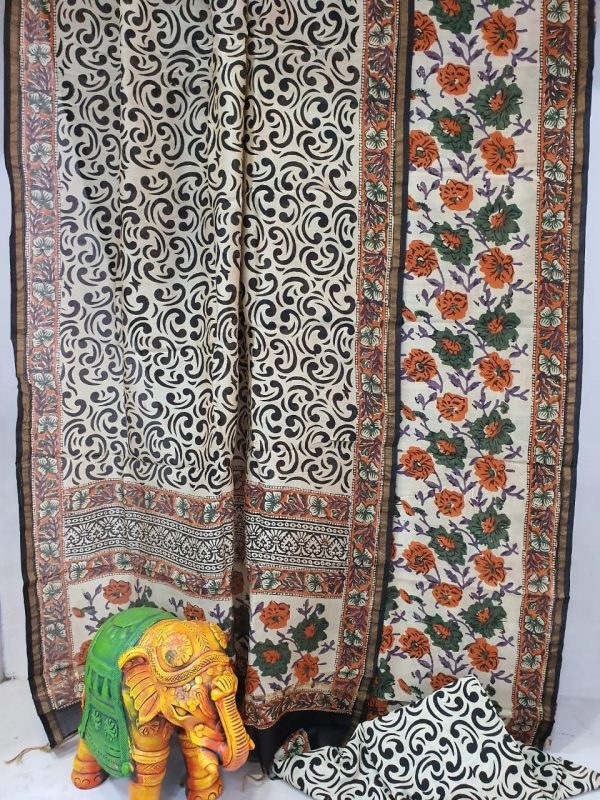 Partywear Amber and white Superior quality chanderi suit set