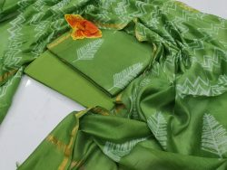 Party wear Traditional green chanderi suit set