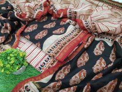 Bagru Print Chanderi Suit (6)