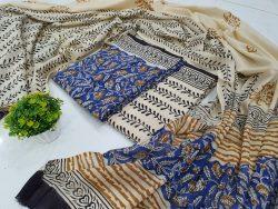 Cotton Dupatta Suit (1)