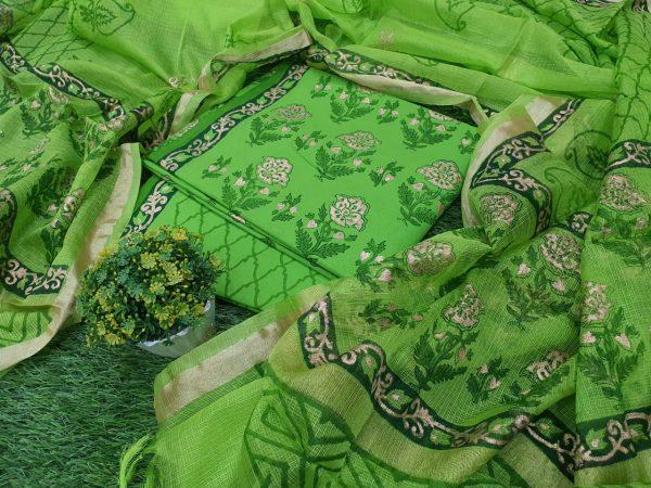 Cotton Green Suit