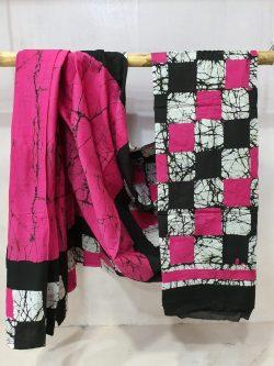 Cotton Saree Batik Print (1)