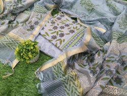 Cotton Suit Kota Dupatta Floral Print