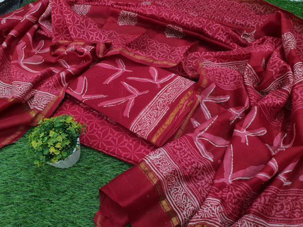 Crimson Chanderi Suit