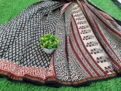 Bagru Print Chanderi Saree (2)