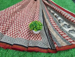Bagru Print Chanderi Saree (4)
