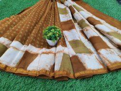 Batik Print Chanderi Saree