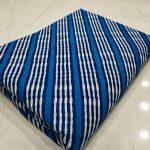 Exclusive blue cotton dress materiel set