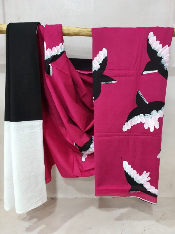Cotton Pink Mugal Print