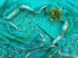 Floral Cottonsuit Kota Dupatta