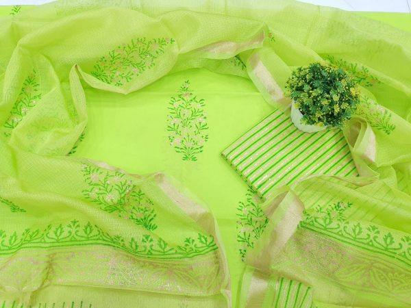 Lime Cotton Suit