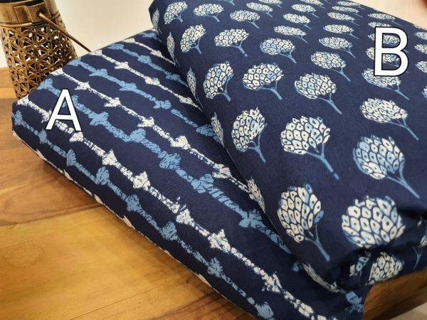 Beautiful navy blue cotton Running materiel set