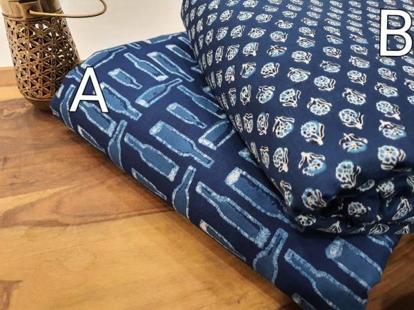 Traditional Cobalt blue cotton Running materiel set