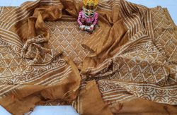 Bagru Print Chanderi Suit