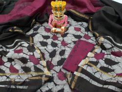 Batik Print Chanderi Suit
