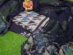 Blue Batik Print Chiffone Suit