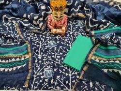 Blue Chanderi Suit