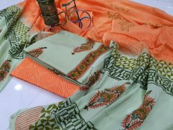 Coral Cotton Mugal Print