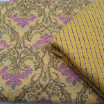Superior quality Brown and Yellow cotton dress materiel