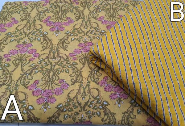 Froral Print Cotton Running Material
