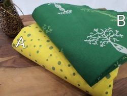 Green and yellow Pure cotton running material set