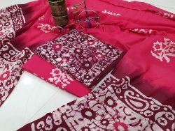 Magenta Rosa Cotton Dupatta Suit
