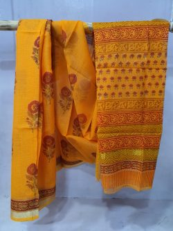 Jaipuri Amber kota doria saree With blouse
