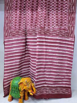 Natural Blush Cotton mulmul saree With blouse