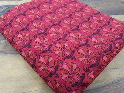 Crimson bagru print running material set