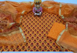 Amber Cotton suit kota dupatta set