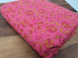 Floral print pink Pure cotton running mateial set