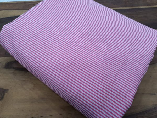 Traditional pink cotton running material set