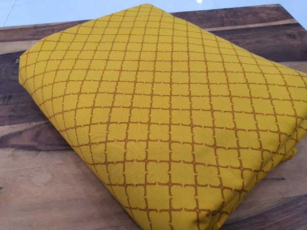 Yellow pigment print cotton running material set
