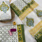 White cotton salwar suit with cotton dupatta