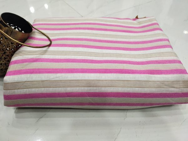 Superior quality pink and White pure cotton running material set