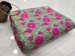 Emerald Floral print pure cotton running material
