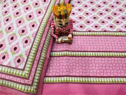 Beautiful pink pure cotton bed sheet