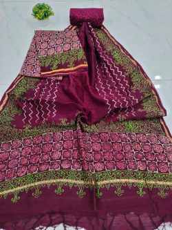 beautiful Rouge chanderi suit set with salwaar