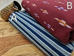 Bagru print blue and Maroon Pure cotton runnning material set