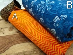 Beautiful Amber and Azure blue cotton Pure cotton runnning material set