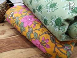 Amber and Jungle green floral print running material set