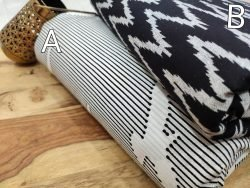 Black and white Pure print running material set