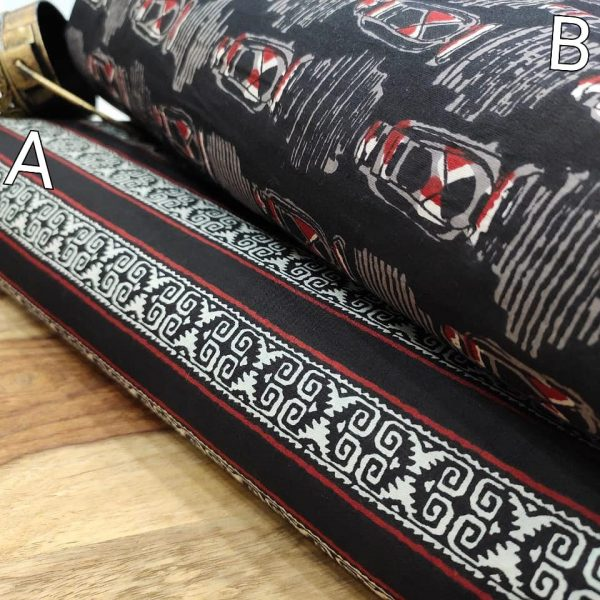 Superior quality Black pure cotton running material