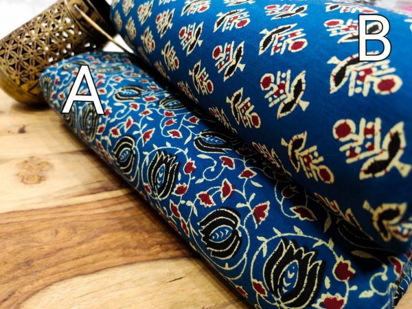 Natural Blue pure cotton running material