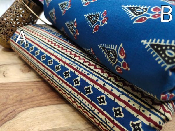 Superior quality Blue pure cotton running material