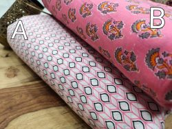Blush pink and white pigment print running material set