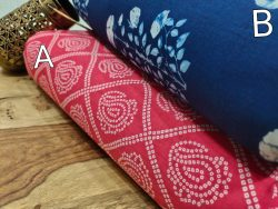 Traditional Pink and blue pure cotton running material